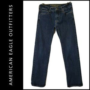 American Eagle Outfitters Men Denim Straight Jeans